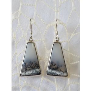 Uhani Dendrit opal - Indija