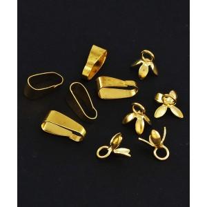 Nastavek za obesek z obročkom zlate barve, kovinski, 7mm (10 kos)