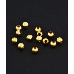 Kovinska kroglica zlate barve, 3mm (100kos)