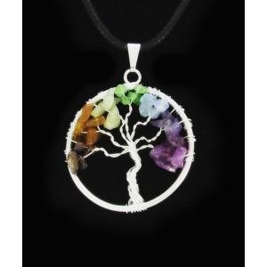 Obesek Drevo Življenja - Kamni Po Čakrah