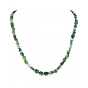 Ogrlica Smaragd - Oval Raw