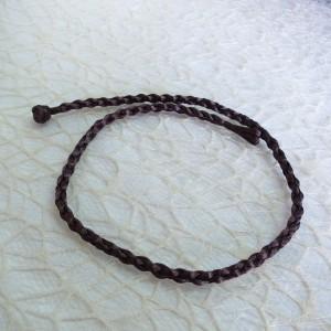 Tekstilna vrvica - sivo rjava