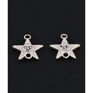 Element za izdelavo uhanov  (alpaka) - Zvezda (10kos)