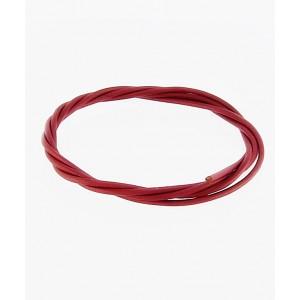 Usnjena Vrvica 1m x 1.8mm -  Rdeča